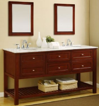 70inc double sink bathroom vanities cabinet s3106 - Double Sink Bathroom Vanities