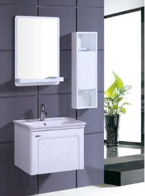 PVC Bathroom Vanity Cabinet In Pure White P7210. High Glossy White Finish Wall  Hung ...