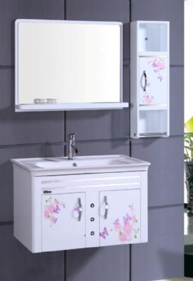 wall hung pvc bathroom vanity cabinet in white p7212 from bathroom