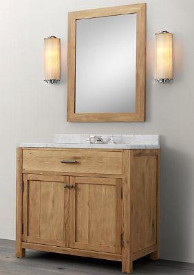 Wnut01 36 Wooden Bathroom Vanity In