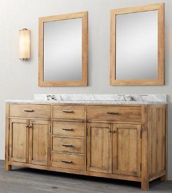 Wnut01 72 Double Wooden Bathroom Vanity In Light Walnut Color From Walnut Bathroom Vanity Wooden Bathroom Vanity