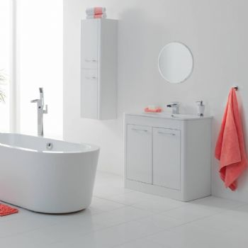 calliope white color bathroom vanity cabinet 800mm from
