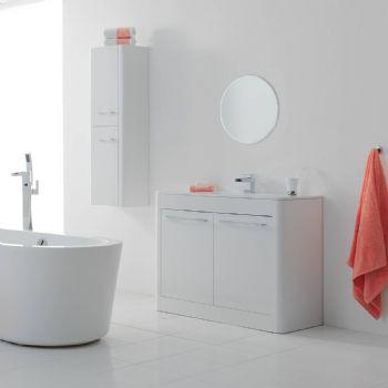 calliope floor standing white color bathroom vanity cabinet 1000mm