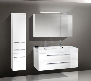 Nemesis White Color Bathroom Vanity Cabinet Wall Hung 1200mm