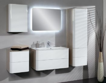 Hours White Color Bathroom Vanity Cabinet Wall Hung 900mm
