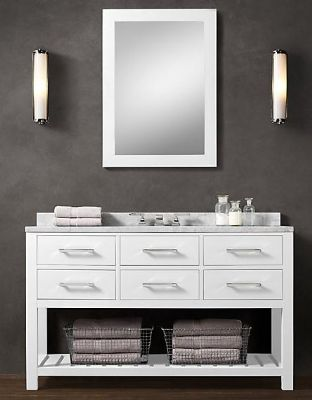 55inc White Color Bathroom Vanity Cabinet W03