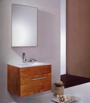 small wooden bathroom furniture S4442