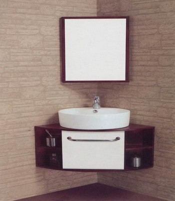 36inc Corner Bathroom Vanities Cabinets S4722 From Walnut Bathroom Vanity Wooden Bathroom Vanity