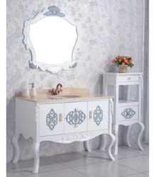 white color antique wooden bathroom furniture
