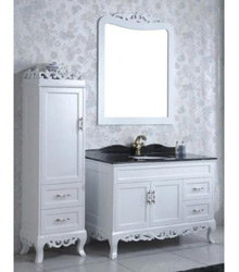 white color antique wooden bathroom furniture 5004