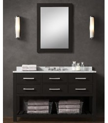 BLK01-55 wooden bathroom vanity cabinet in black color