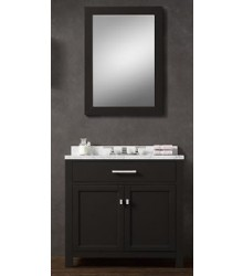 BLK02-36 wooden bathroom vanity cabinet in black color