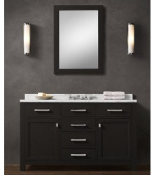 BLK02-55 wooden bathroom vanity cabinet in black color