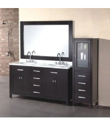 60inc classical double bathroom vanity D969