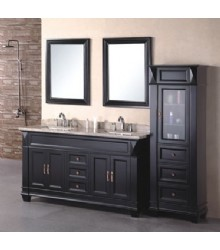 60inc double sinks bathroom vanity cabinet D970