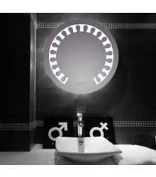 Bathroom LED Glass Mirror with Touch Sensor Switch,LED Glass Mirror on Bathroom,LED Mirror