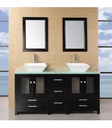 61inc Double sink bathroom vanities set S1101