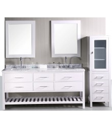 72inc double sink bathroom vanities set in white S1105