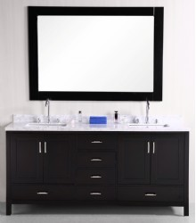 72inc double sink bathroom vanities set S1106