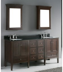 72inc double sink bathroom vanities set s1107