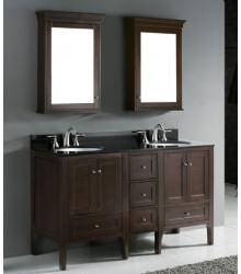 60inc double sink bathroom vanities s1108