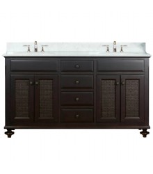 60inc double sink bathroom vanities set s1112