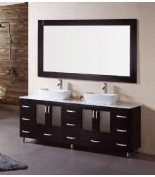 72inc double vessel sink bathroom vanity s1121