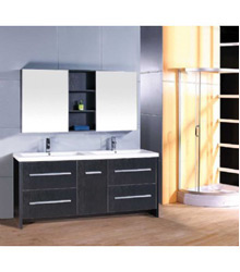 double ceramic basin bathroom furniture D734