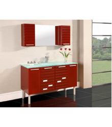 double glass basins bathroom furniture D741