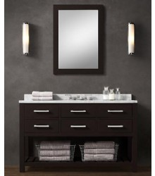 55inc wooden bathroom vanity in espresso ES01-55