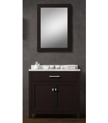 ES02-36 single wooden bathroom vanity cabinet in ESPRESSO