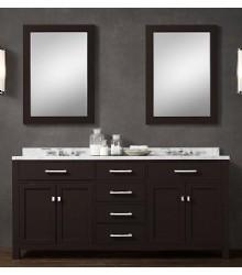 ES02-72 wooden bathroom vanity cabinet in ESPRESSO