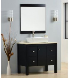 ES05 Single bathroom vanity cabinet with vessel sink