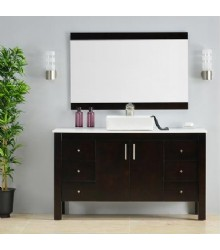 ES06 60inc Bathroom vanity cabinet with vessel sink