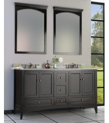 ES10 72inc Double bathroom vanity cabinet in espresso finish