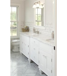 NW048 Double bathroom vanity cabinet in white color