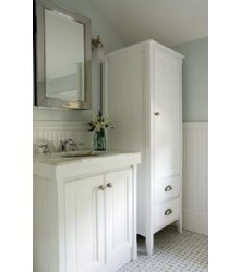 NW050 bathroom vanity cabinet in white color