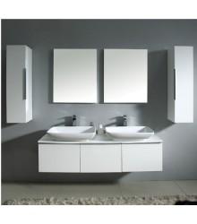 NMF04 1200 MDF Bathroom Vanity cabinet double basin from bathroom