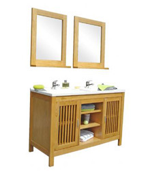 Modern double sinks bathroom cabinets S852