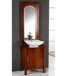 26inc bathroom cabinets brown finish S854