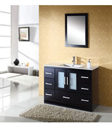 Modern bathroom vanity in Black S901
