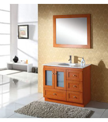 36inc Oak color bathroom vanity cabinets S902