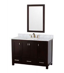 48inc bathroom vanity in dark brown color 58297