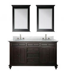 68inc double sink wooden bathroom vanity in espressoo color S951