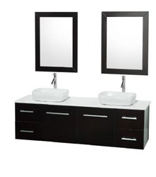 60inc wall mounted bathroom vanity in espresso clor 58600