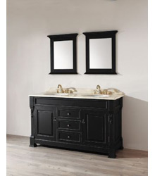 60inc transitional double basins bathroom vanity S1001