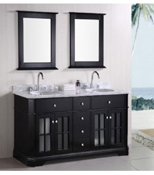60inc Contemporary double sinks bathroom vanity S1002