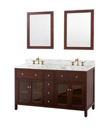 60inc Contemporary double sinks bathroom vanity S1003