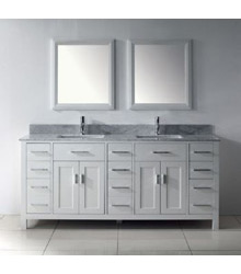 75inc Contemporary double sinks bathroom vanity S1004