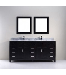 72 Contemporary double sinks bathroom vanity S1005